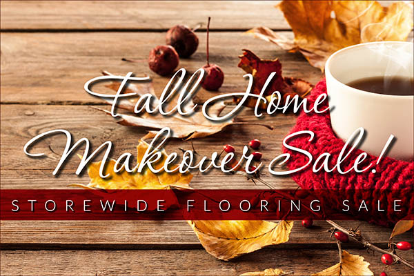 Save big on flooring this month during the Fall Home Makeover Sale at Abbey Carpet & Floor!  Storewide Savings!
